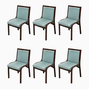 Esszimmerstühle von Vittorio Gregotti für Poltrona Frau, 1980er, 6er Set