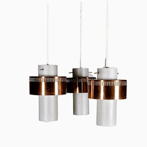 3-Pendant Suspension Lamp, Denmark, 1960s