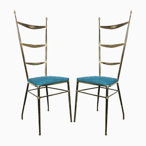 Mid-Century Dining Chairs from Chiavarina, Set of 2