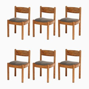Pinewood Dining Chairs by Rainer Daumiller, 1970s, Set of 6