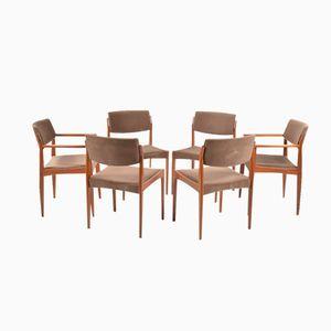 Chaises de Salon en Teck par H. W. Klein pour Bramin, Set de 6