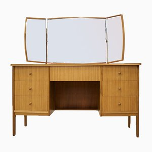 Mid-Century Teak and Walnut Tallboy Dressing Table by Peter Hayward for Vanson, 1960s