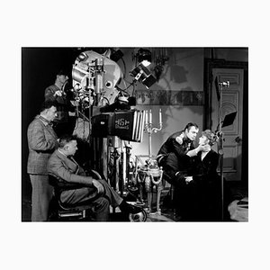 Greta Garbo on Set Archival Pigment Print Framed in Black by Everett Collection