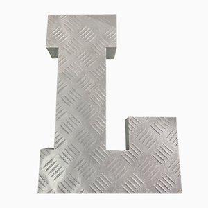 Vintage Metal Letter L Sign