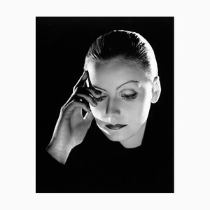 Greta Garbo Archival Pigment Print Framed in Black by Everett Collection