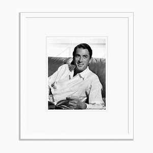 Gregory Peck Dapperly Dressed Archival Pigment Print Framed in White by Everett Collection