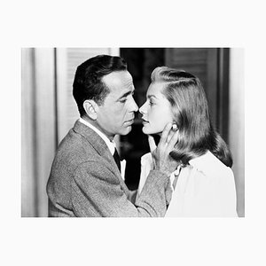 Bogey and Bacall Archival Pigment Print Framed in White