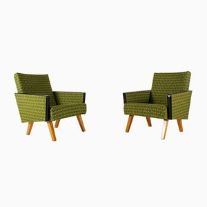 Green Lounge Chairs, 1960s, Set of 2