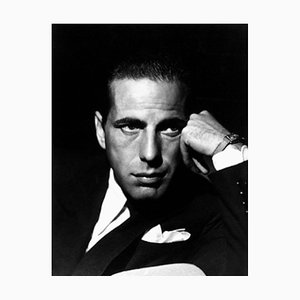 Humphrey Bogart Archival Pigment Print Framed in White