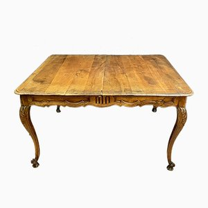 Louis XV Solid Walnut Dining Table