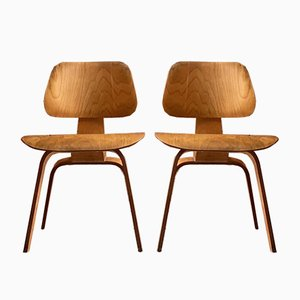 DCW Dining Chairs by Charles & Ray Eames for Evans, 1950s, Set of 2