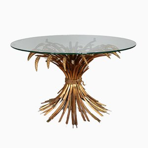 Mid-Century Hollywood Regency Sheaf of Wheat Table