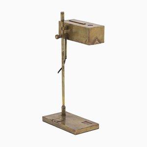 Bauhaus Gilt Brass Floor Lamp, 1920s