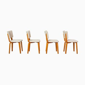 Schichtholz Multiplex Esszimmerstühle von Cor Alons & JC Jansen für C. de Boer, 1950er, 4er Set