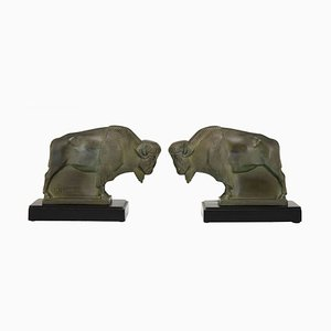 Art Deco Bookends by Max Le Verrier, 1930s, Set of 2