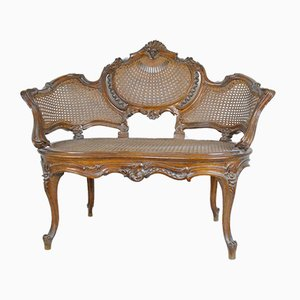 Antique Louis XV Style Carved Wood Armchair