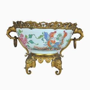 Napoleon III Porcelain Cup on Bronze Mount