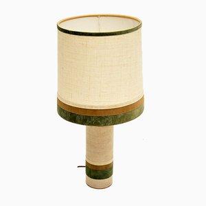 Vintage Copper & Velvet Table Lamp, 1960s