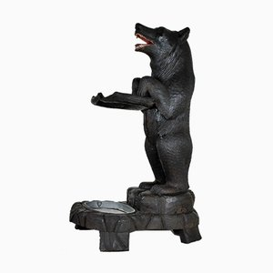 Black Forest Carved Bears Umbrella Rack