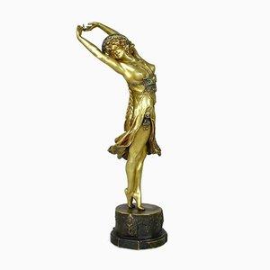 The Crimea Dancer Bronze Sculpture by Colinet, 1930s
