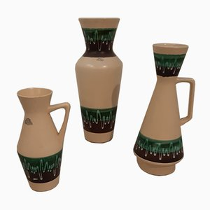 Space Age Ceramic Vases from Bay Keramik, 1960s, Set of 3