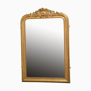 19th-Century French Giltwood Mirror