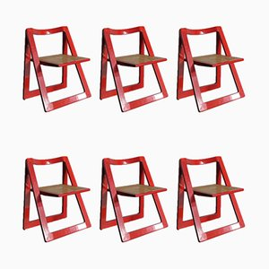 Trieste Dining Chairs by Pierangela D'Aniello & Aldo Jacober for Alberto Bazzini, 1960s, Set of 6
