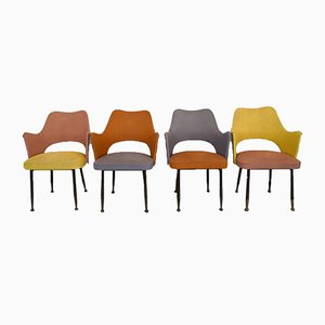 Armchairs by Gastone Rinaldi for Rima, 1950s, Set of 4