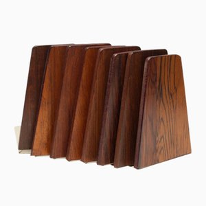 Bookends in Rosewood, 1960s, Set of 8