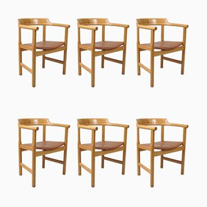 Esszimmerstühle von Hans J. Wegner für PP Møbler, 1970er, 6er Set