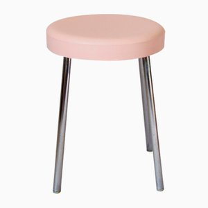 Vintage Pink Plastic Stool from CM, Italy, 1970s