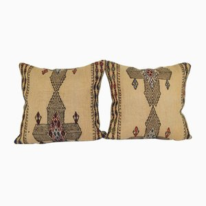Turkish Handwoven Kilim Cushion Covers, Set of 2