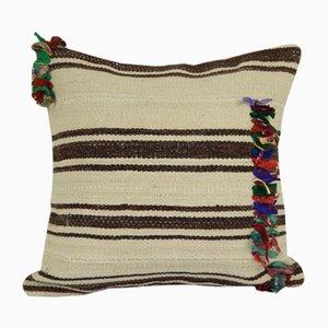 Minimalist Style Hemp Cushion Cover with Original Details