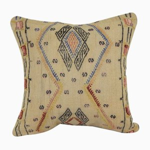 Handwoven Square Kilim Cushion Cover