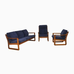 Mid-Century Danish Living Room Set by Johannes Andersen for CFC Silkeborg, 1960s, Set of 3