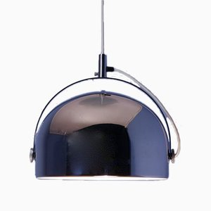Dutch Chrome & Silver Ceiling Lamp from Gepo, 1970s
