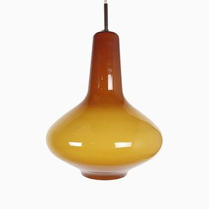 Ocher Glass Pendant by Massimo Vignelli for Venini, 1950s