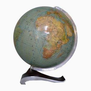 Globe sur Socle Streamline 34 cm Art Déco Streamline de Columbus Oestergaard, 1950s