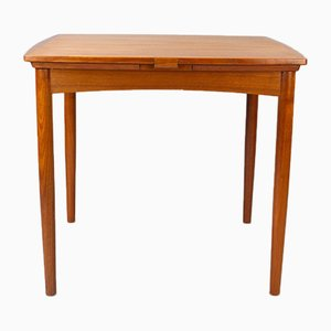 Vintage Danish Teak & Green Baize Convertible Card Table by Carlo Jensen for Hundevad & Co 1960s