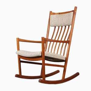 Mid-Century Rocking Chair by Hans J. Wegner for Tarm Stole