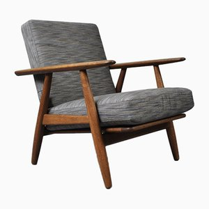 GE240 Cigar Lounge Chair by Hans J. Wegner for Getama, 1950s