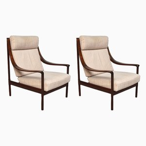 Rosewood Lounge Chairs by Walter Knoll for Walter Knoll / Wilhelm Knoll, 1960s, Set of 2