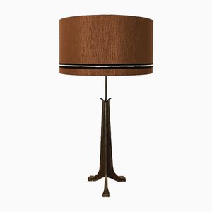 Brutalist Brass Table Lamp, 1960s