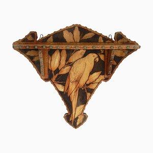 Art Déco Spieluhr-Tiefregal aus Holz, 1930er