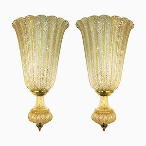 Large Wall Lights from Barovier & Toso, Italy, 1960s, Set of 2