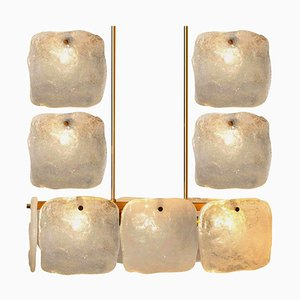 Glass and Brass Light Fixtures by J.T. Kalmar, Austria, 1960s, Set of 5