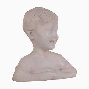 Antike Italienische Marmorbüste von Child