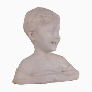 Antique Italian Marble Bust of Child