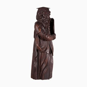 Italian Sessile Oak Sculpture of Moses, 1800s