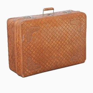 Tooled Leder Koffer von Pugsley, 1950er